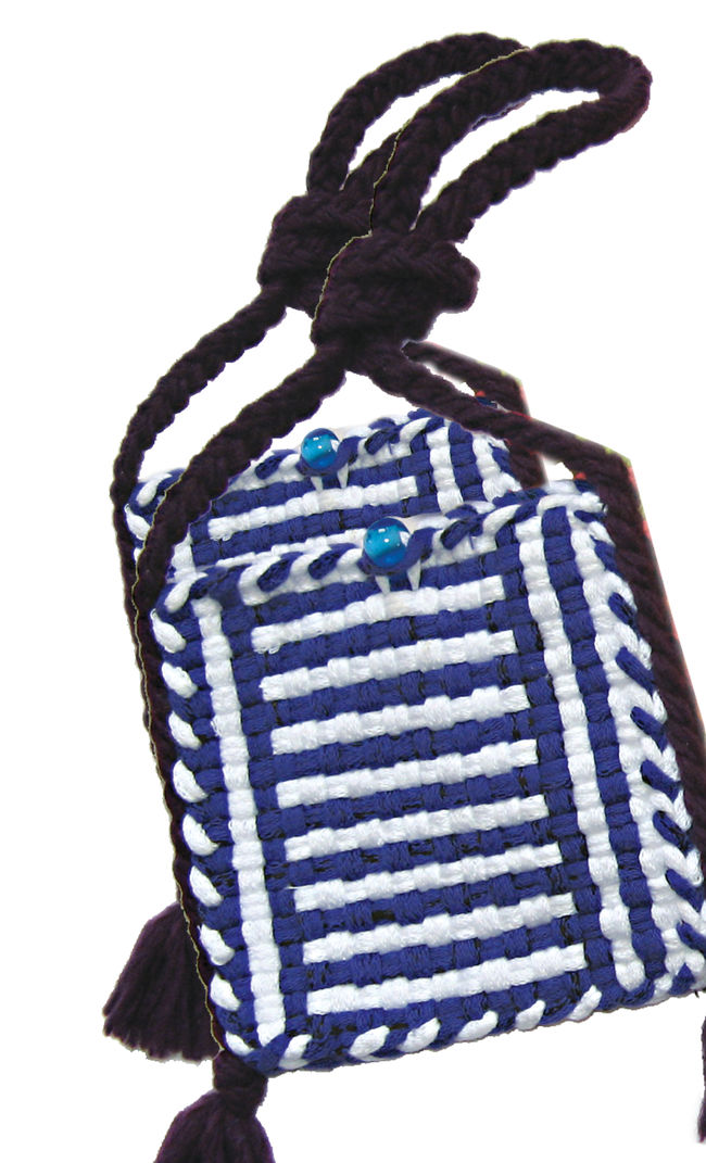 Potholder Purse Kit - Blue and White
