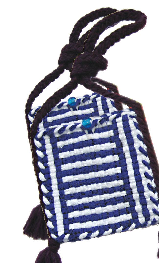 Potholder Purse Kit - Blue and White