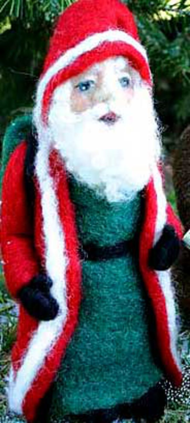 Father Christmas Needle Felting Kit - Black Sheep Designs