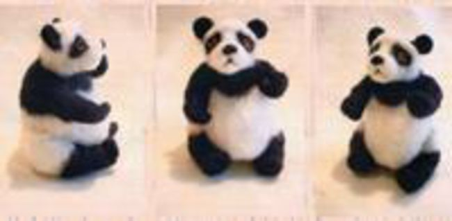 Panda Needle Felting Ornaments - Black Sheep Designs