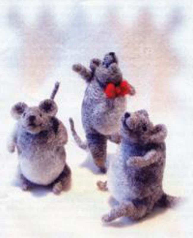 Merry Mice Needle Felting Ornaments - Black Sheep Designs