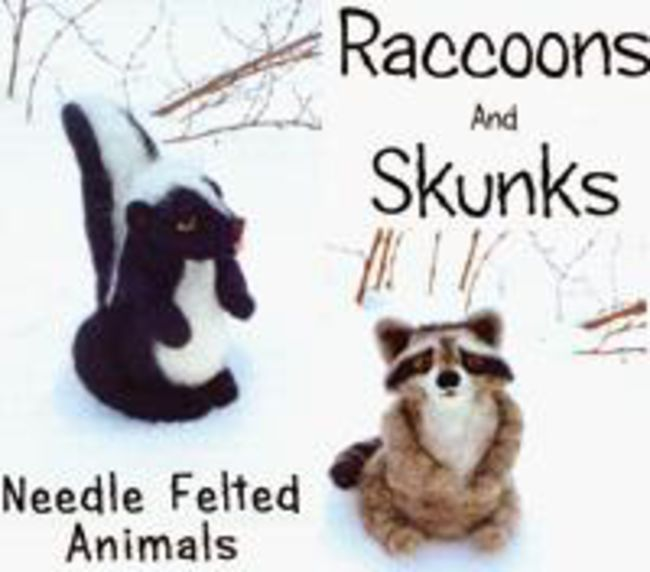 Raccoons and Skunks Needle Felting Ornaments - Black Sheep Designs