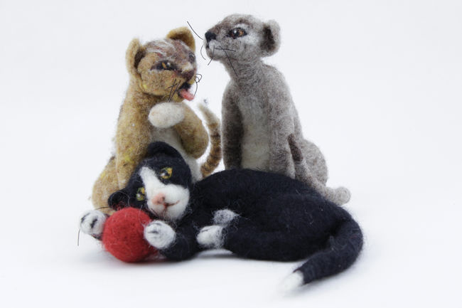 Felted Felines Needle Felting Kit - Black Sheep Designs