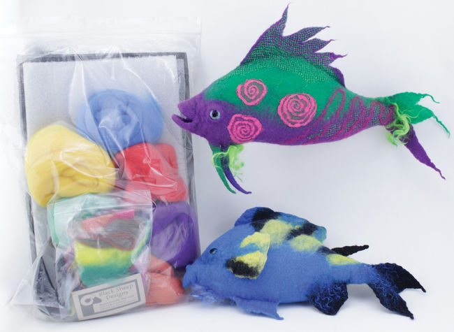 Go-Felt-a-Fish Wet Felted Fish - Black Sheep Designs