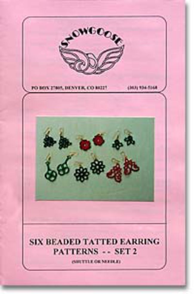 Beaded Tatted Earrings Set 2