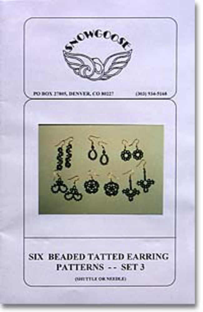 Beaded Tatted Earrings Set 3
