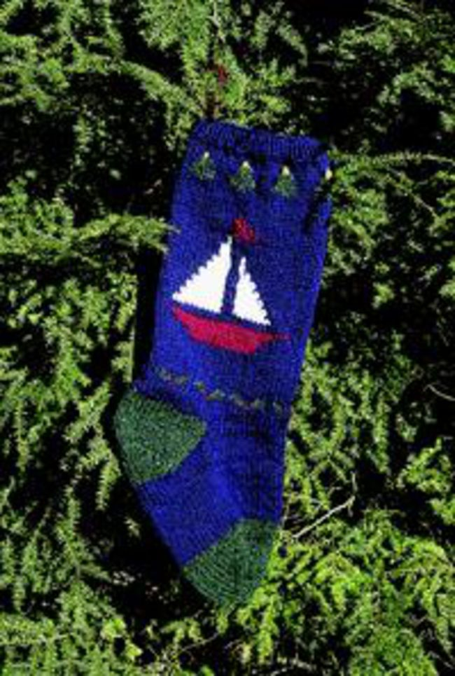 Sailboat Christmas Stocking Kit