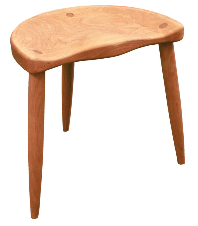 Paul Baines 18&quot; Spinning Stool - Cherry -($25.00 oversize shipping fee)
