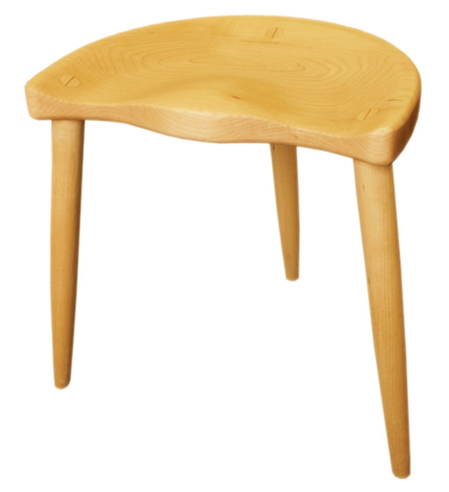 Paul Baines 18&quot; Spinning Stool - Maple -($25.00 oversize shipping fee)