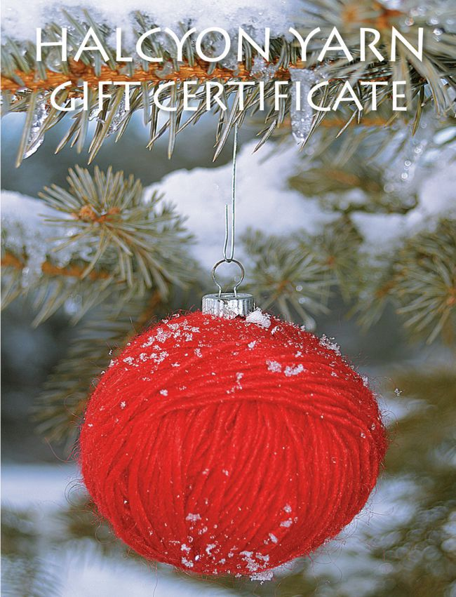Halcyon Yarn Gift Certificate