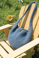 Halcyon Yarn Felted Knitting Satchel - Geo Rug Wool - Pattern download (image A)
