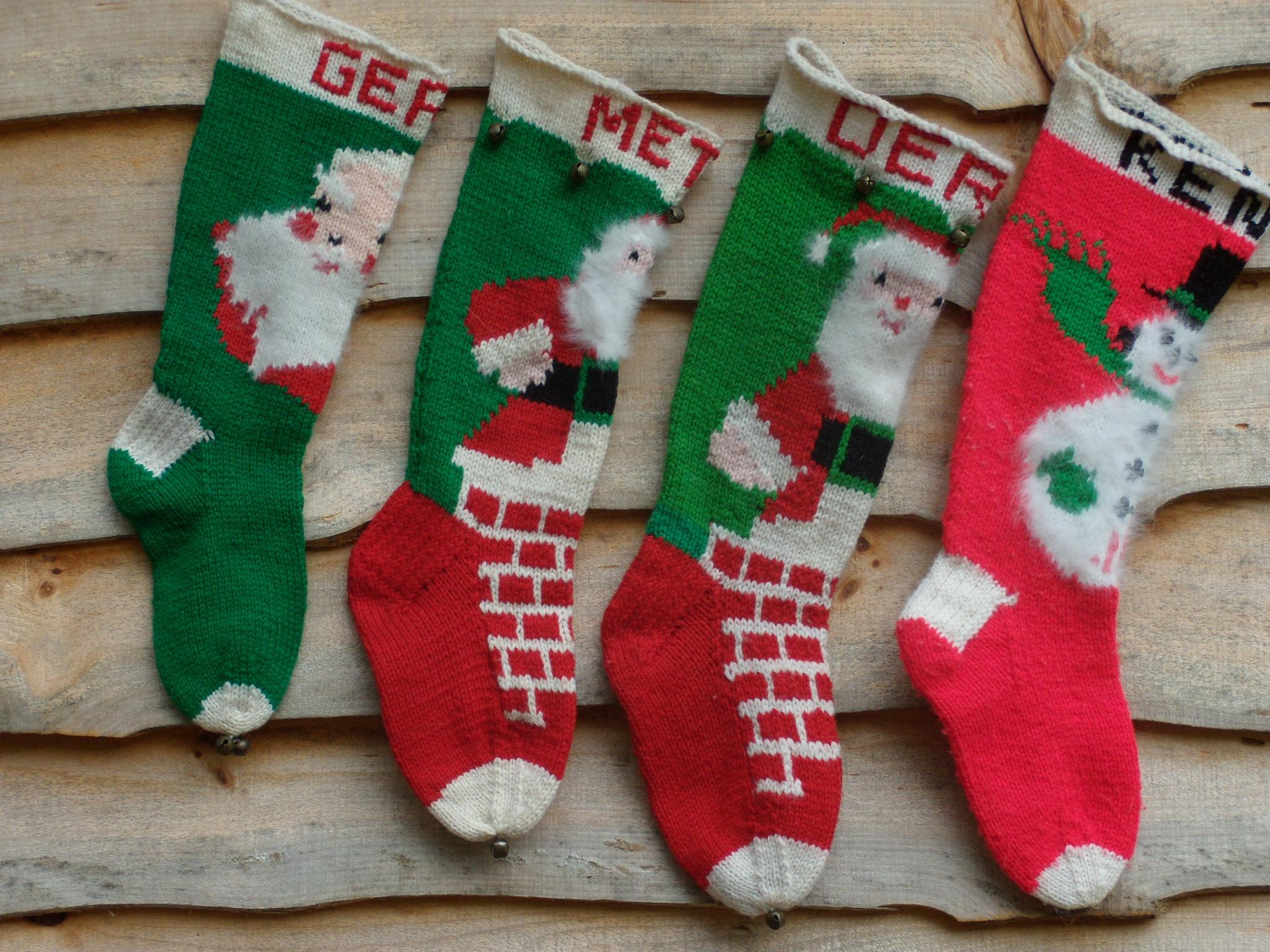 Vintage Christmas Stockings On Pinterest Christmas