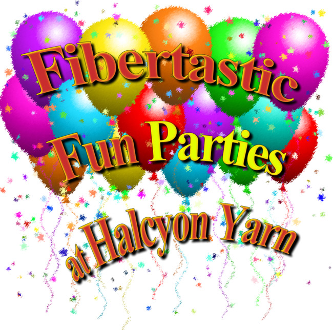 birthday party at halcyon yarn