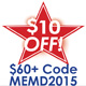 10 savings through memorial day on orders over $60