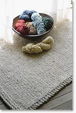 Knitted Rectangular Rug  Halcyon Classic Rug Wool