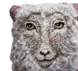 Sheep Portrait of Daphne Hooking Pattern