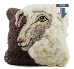 new book or magazine: Sheep Portrait of Jack Hooking - Pattern Download
