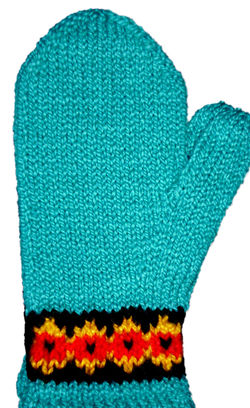 Knitting patterns Two-Way Botanica Mitten Pattern