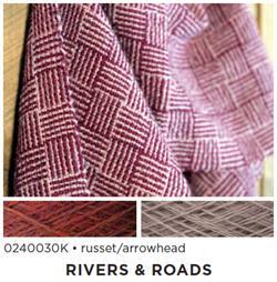 Rivers and Roads  Woven Scarf Kit  russet  arrowhead