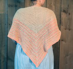 Waiting Room  Crocheted Shawl