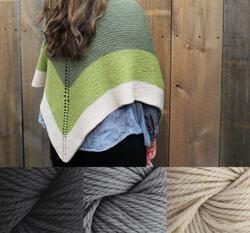 Clearance  Space Oddity Shawl Kit  Neutral