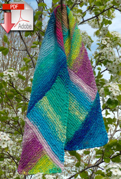 Multi-Directional Scarf - Noro Taiyo - Pattern download