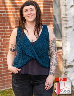 Ultra Twist Broomstick Lace Top - Crochet Pattern Download