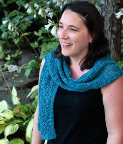 Heirloom Lace Scarf in Signature Block Island Blend
