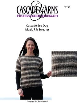 Cascade Eco Duo Magic Rib Sweater Pattern