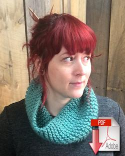 Easy Learn to Knit Cowl Pattern Download