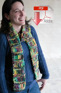 Drop Stitch Scarf - PDF Pattern Download