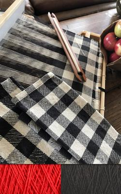 Buffalo Plaid Dish Towel Kit  Classic Black and Red