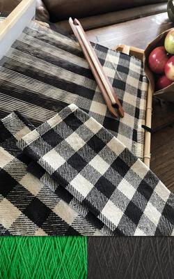 Buffalo Plaid Dish Towel Kit  Classic Black and Green