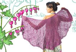 Twist Collective Printed Pattern Belarra Shawl in Gemstone Silk 2/5