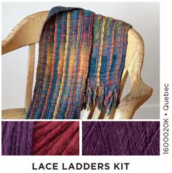 Lace Ladders  Woven Scarf Kit 2 Quebec