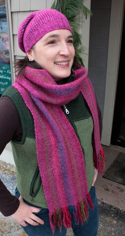Chill Chaser Woven Scarf Kit - Winterberry
