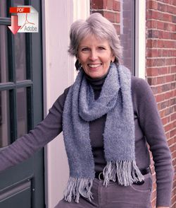 Frosted Elegance Scarf  Pattern download
