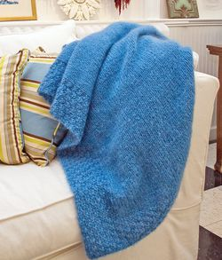 Lush Victorian Mohair Throw - Victorian 2-Ply and Mohair