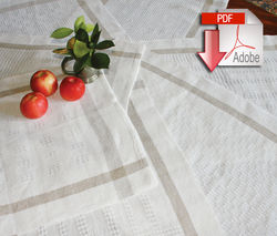 Classic Linen Towels Pattern - Newport Linen - Pattern download
