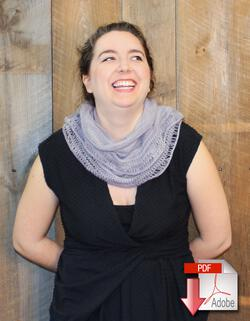 Pressure Drop Infinity Scarf Pattern Download