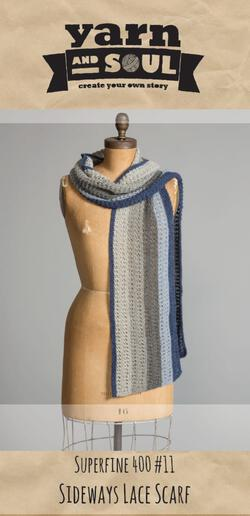 Sideways Scarf Pattern by Yarn and Soul