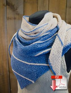 Under the Boardwalk Knitted Shawl  Pattern Download