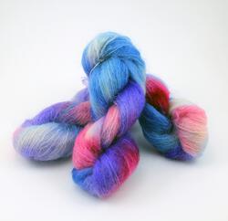 Medium 74% Mohair, 16% Wool, 10% Nylon Yarn:  color 0002