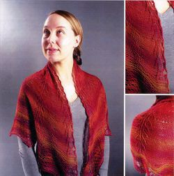 Painted Desert Tree amp Feather Shawl Pattern