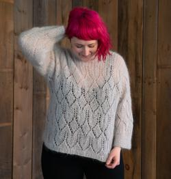 Atmosphere Lace Mohair Pullover Sweater Pattern
