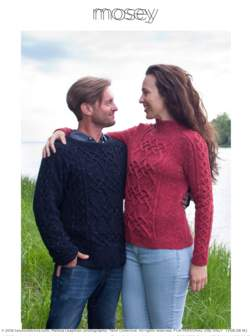 Twist Collective Printed Pattern Mosey Cabled Pullover for Men and Women - Silkroad DK Tweed