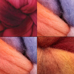 Hand-Dyed Blue Face Leicester Wool Fiber