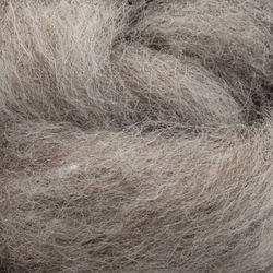 Romney Wool Fiber Blend  - Dark Grey/Fawn