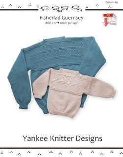 Fisherlad Guernsey - Yankee Knitter  - Pattern download