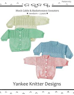 Mock Cable and Basketweave Sweaters - Yankee Knitter